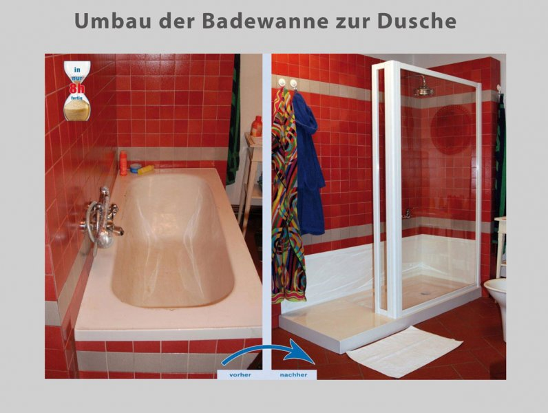wanne zur dusche in nur 8 stunden badbarrierefrei leipzig. Black Bedroom Furniture Sets. Home Design Ideas